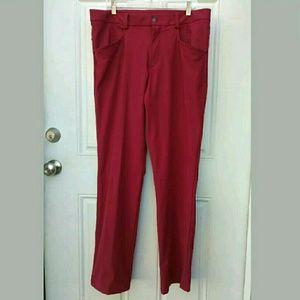 Lululemon's Red ABC Training Pants 36 Rare